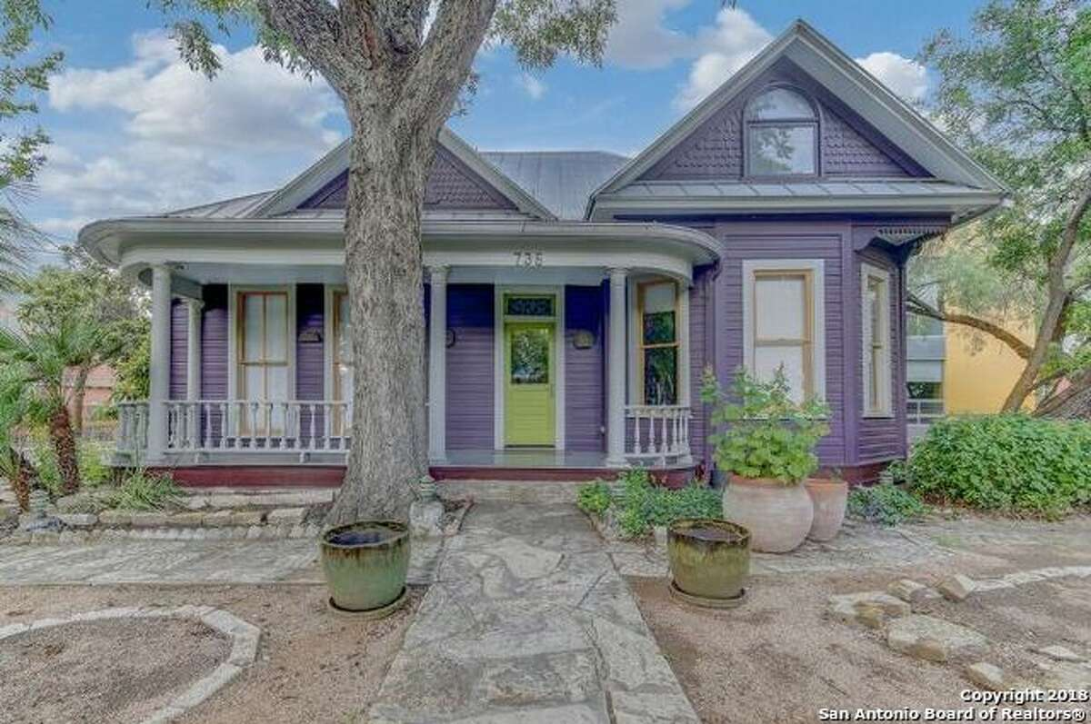 The former King William home of author Sandra Cisneros -with a completely new look. Click through to see photos of the old house and the renovations.