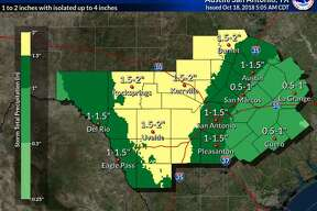 More rain is expected on Thursday and Friday in the San Antonio area.
