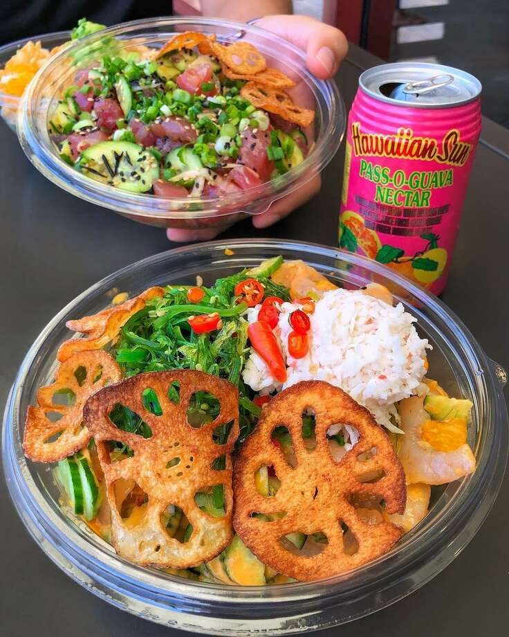Pokeworks in Wilton serves colorful bowls of food with endless combitions. Photo: Contributed Photo