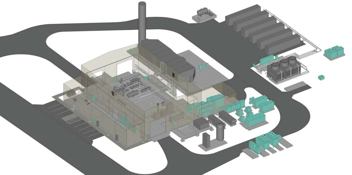 A rendering of the power plant on which Southwest Research Institute broke ground on Monday.