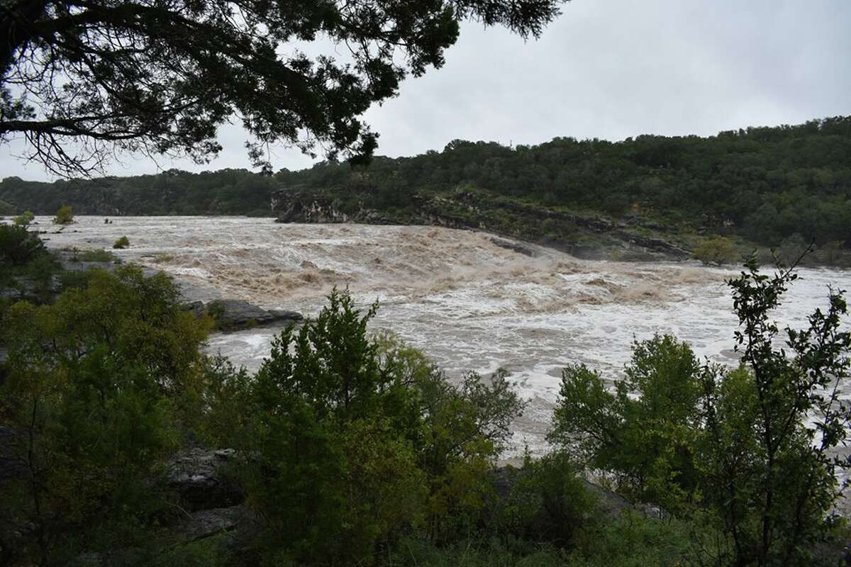 AFTER: Pedernales Falls State Park shared these photos at 9 a.m. Wednesday, Oct. 17, 2018, saying falls can be heard a mile away