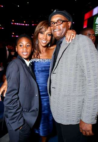 LOS ANGELES, CA - JULY 14:  Actress Holly Robinson Peete and son Rodney poses for a photo with actor Samuel L. Jackson at the 2010 ESPY Awards at Nokia Theatre L.A. Live on July 14, 2010 in Los Angeles, California.  (Photo by Alexandra Wyman/Getty Images for ESPY) *** Local Caption *** Holly Robinson Peete;Samuel L. Jackson Photo: Alexandra Wyman, Getty Images For ESPY / 2010 Getty Images