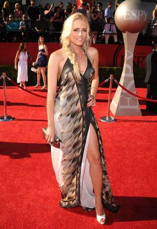 LOS ANGELES, CA - JULY 14:  Surfer Hannah Cornett arrives at the 2010 ESPY Awards at Nokia Theatre L.A. Live on July 14, 2010 in Los Angeles, California.  (Photo by Jason Merritt/Getty Images) *** Local Caption *** Hannah Cornett Photo: Jason Merritt, Getty Images / 2010 Getty Images