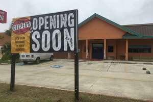 """A """"Coming Soon"""" sign has been installed for Lucy Cooper's Ice House at 16080 San Pedro Ave. Owner Braunda Moody Smith hopes to be open for business in mid-November."""