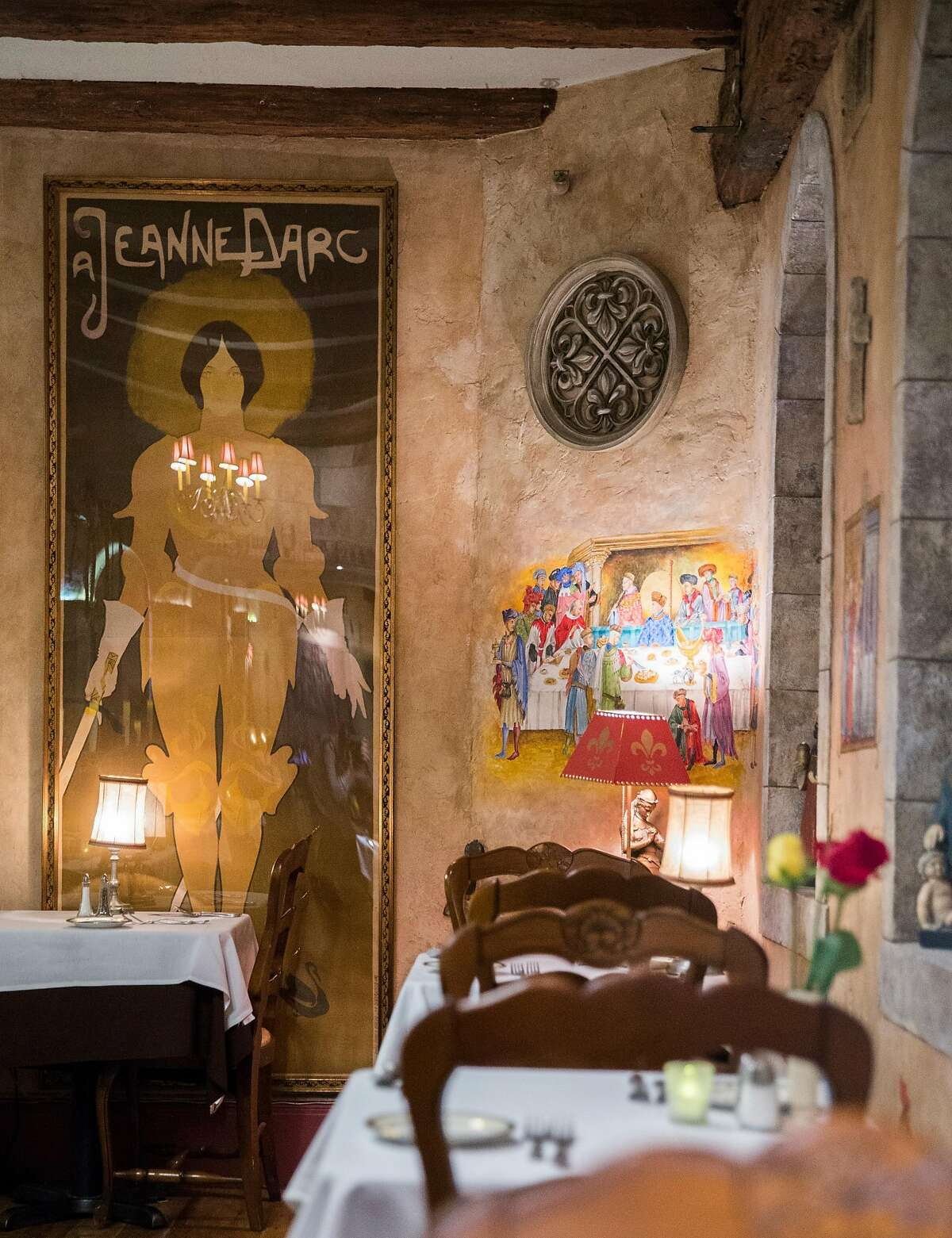 Joan of Arc is everywhere at the restaurant bearing her name. She is the patron saint of Orleans, the French town the Lamberts come from.