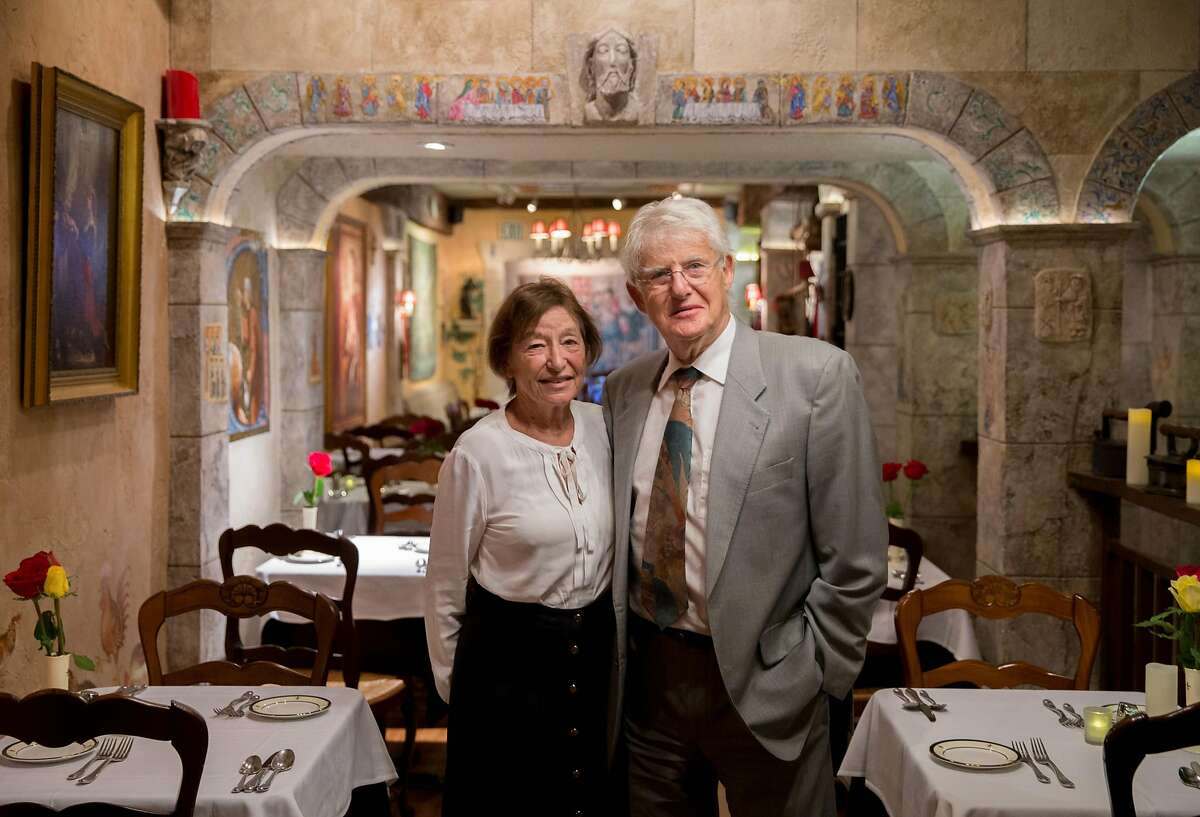 Micheline and Claude Lambert, owners of the 46-year-old Restaurant Jeanne d'Arc, located inside the Cornell Hotel de France in San Francisco