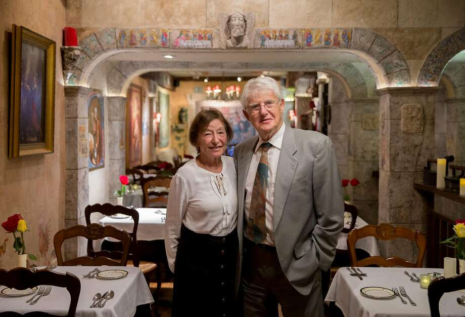 Micheline and Claude Lambert, owners of the 46-year-old Restaurant Jeanne d'Arc, located inside the Cornell Hotel de France in San Francisco Photo: Jessica Christian / The Chronicle