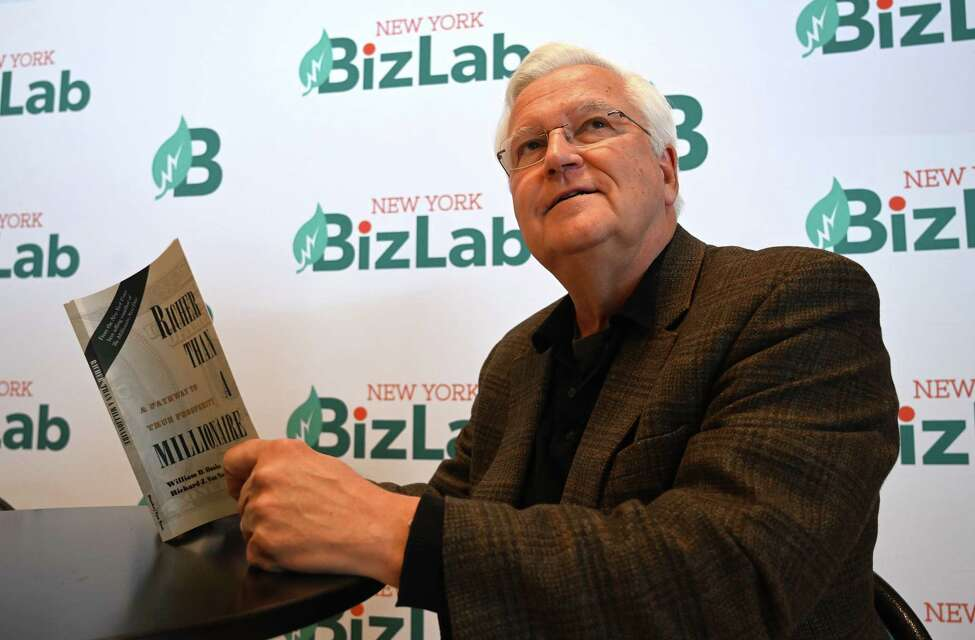 William Danko, author of Richer than a Millionaire spoke to the Times Union at the BizLab Thursday Oct.18, 2018 in Schenectady, N.Y. (Skip Dickstein/Times Union)
