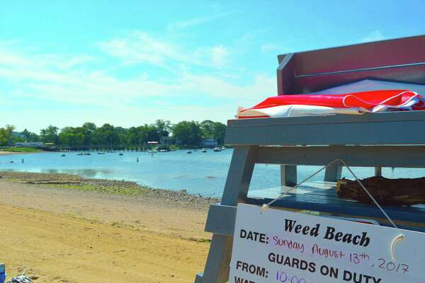 A sunny morning at Weed Beach, Sunday, Aug. 13, 2017, in Darien, Conn.