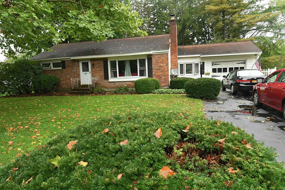 Sara Tracey and Steve Hughes' house, which they bought Thursday, Oct. 11, 2018 in Glenville, N.Y. The house used to belong to Sara's grandparents. (Lori Van Buren/Times Union)