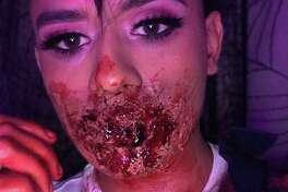 Twenty-year-old Fernando Riojas shares his Halloween-inspired makeup looks on Instagram.