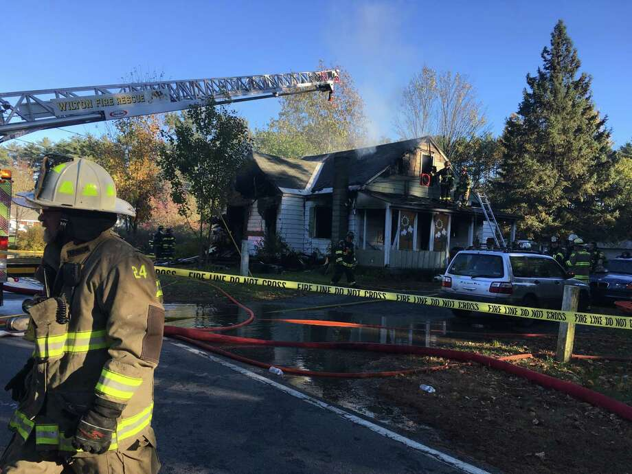 This house on Reservoir Road in South Glens Falls was a total loss after it was ravaged by fire on Thursday afternoon. Photo: Wendy Liberatore/Times Union