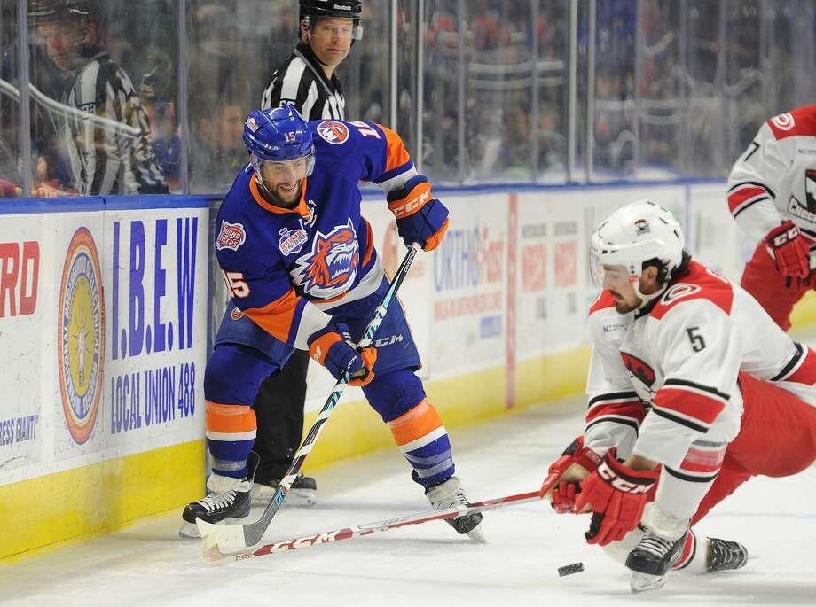 The Sound Tigers' Stephen Gionta skates against the Checkers on Feb. 25 in Bridgeport. Photo: Brian A. Pounds / Hearst Connecticut Media / Connecticut Post