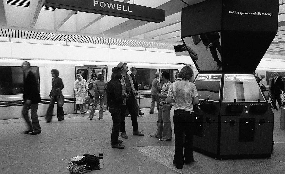 Dec. 7, 1976: Atari debuted several new games in the Powell Street BART station, including Tank and Le Mans.