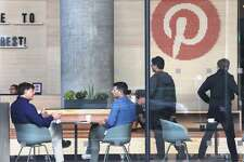View of public lobby at Pinterest on Tuesday, Oct. 9, 2018 in San Francisco, Calif.