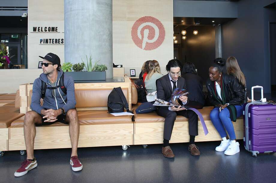 Like its peers, Pinterest loses money. But the San Francisco company is burning less cash than Lyft or Uber. Photo: Liz Hafalia / The Chronicle 2018