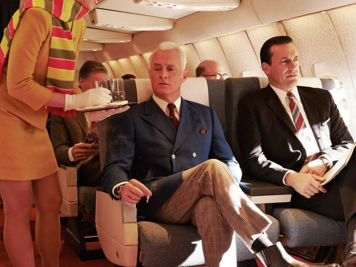 Reason #1: Smoking on planes was common during the Mad Men era, but was banned in the 1990s. It's still hard to believe that any airline ever allowed smoking onboard. Not only was it dangerous and unhealthy, it stunk! But nonetheless, in the