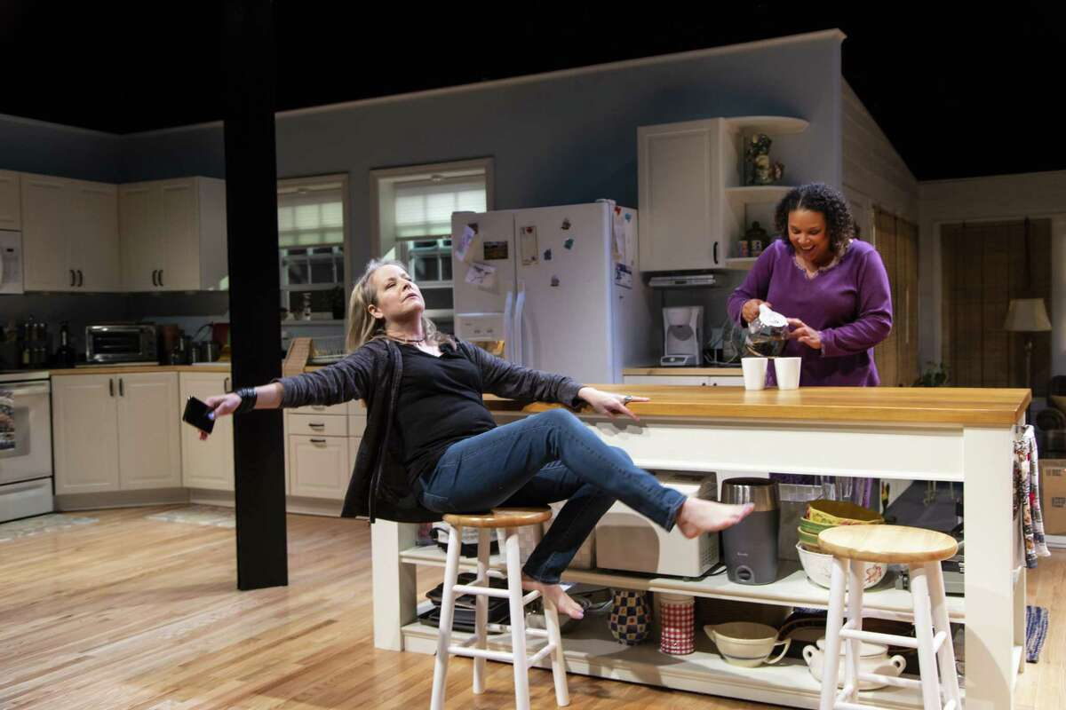 """Tasha Lawrence, left, and Linda Powell in """"The Roommate."""""""