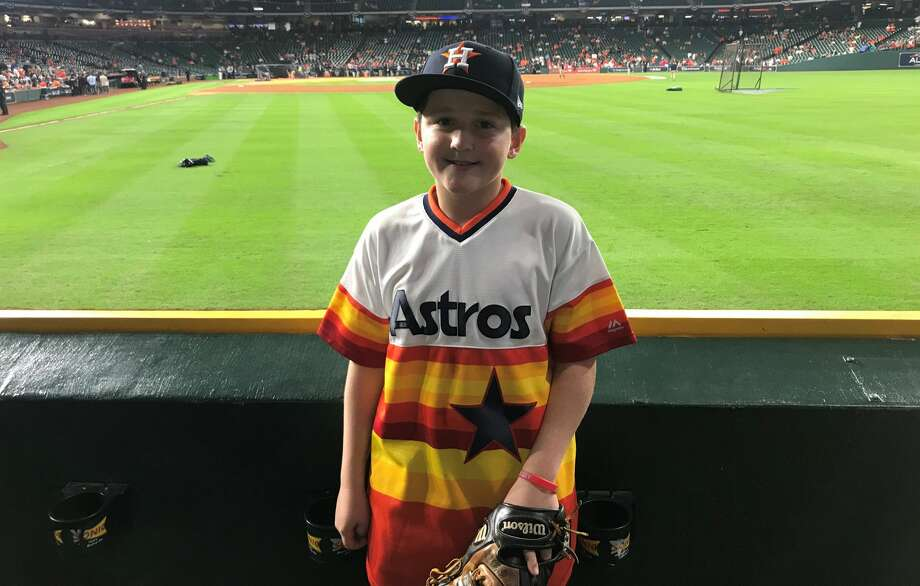 PHOTOS: A look at Carson Riley and his near run-in with Aaron Judge at the 2017 ALCS Thirteen-year-old Carson Riley is back for Game 5 of the Astros-Red Sox American League Championship Series on Thursday, Oct. 18, 2018 at Minute Maid Park. Carson was billed as something of a hero when he nearly interfered with the Yankees' Aaron Judge on a Carlos Correa home run in the 2017 ALCS. Browse through the photos above for a look at Carson Riley and the play that won him a place in Astros hearts in 2017 ... Photo: Matt Young