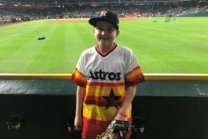 Thirteen-year-old Carson Riley is back for Game 5 of the Astros-Red Sox American League Championship Series on Thursday, Oct. 18, 2018 at Minute Maid Park. Carson was billed as something of a hero when he nearly interfered with the Yankees' Aaron Judge on a Carlos Correa home run in the 2017 ALCS.
