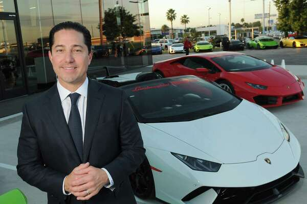 Todd Blue, Indigo Auto Group founder and CEO, at the new Lamborghini Houston dealership on I-45 North Friday Oct. 12,2018.