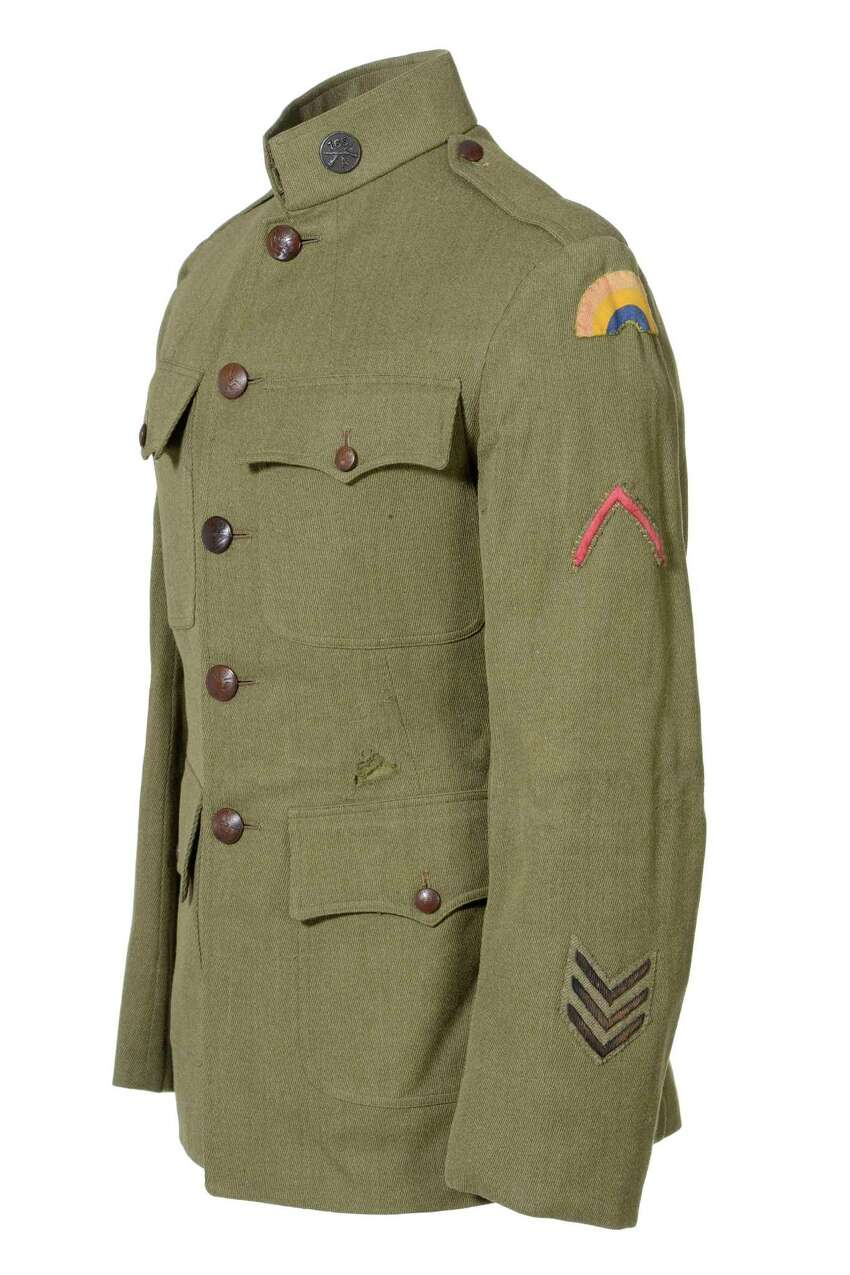 The State Museum in Albany exhibit on the centennial of World War I, A Spirit of Sacrifice: New York State in the First World War, will be on display from April 15, 2017, through June 3, 2018. Tunic, 165th Infantry Regiment. Courtesy: William F. Howard Collection. This tunic belonged to a soldier in the 165th Infantry Regiment. During training at Camp Mills, Long Island, the unit became part of the 42nd Division. (Courtesy of State Museum)
