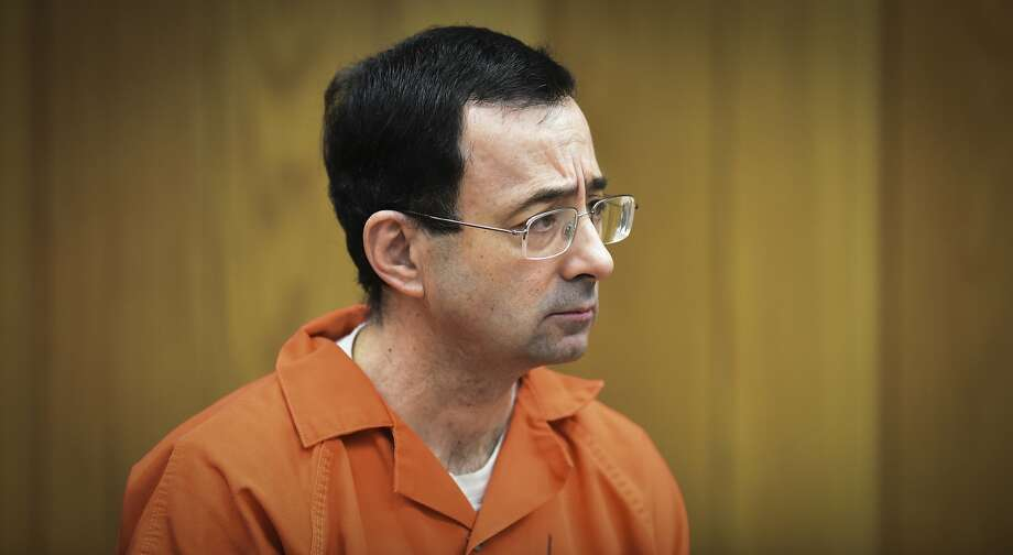 Larry Nassar, former sports doctor who admitted molesting some of the nation's top gymnasts, appears in Eaton County Court in Charlotte, Mich., on Feb. 5, 2018.  (Matthew Dae Smith/Lansing State Journal via AP, File) Photo: Matthew Dae Smith, Associated Press