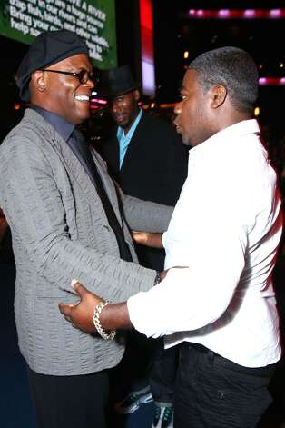 LOS ANGELES, CA - JULY 14:  (L-R) Actor Samuel L. Jackson greets comedian Tracy Morgan attends the 2010 ESPY Awards at Nokia Theatre L.A. Live on July 14, 2010 in Los Angeles, California.  (Photo by Alexandra Wyman/Getty Images for ESPY) *** Local Caption *** Samuel L. Jackson;Tracy Morgan Photo: Alexandra Wyman, Getty Images For ESPY / 2010 Getty Images