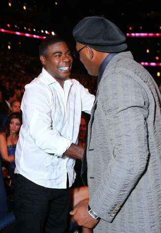 LOS ANGELES, CA - JULY 14: (L-R) Comedian Tracy Morgan shares a laugh with Actor Samuel L. Jackson at the 2010 ESPY Awards at Nokia Theatre L.A. Live on July 14, 2010 in Los Angeles, California.  (Photo by Alexandra Wyman/Getty Images for ESPY) *** Local Caption *** Tracy Morgan;Samuel L. Jackson Photo: Alexandra Wyman, Getty Images For ESPY / 2010 Getty Images