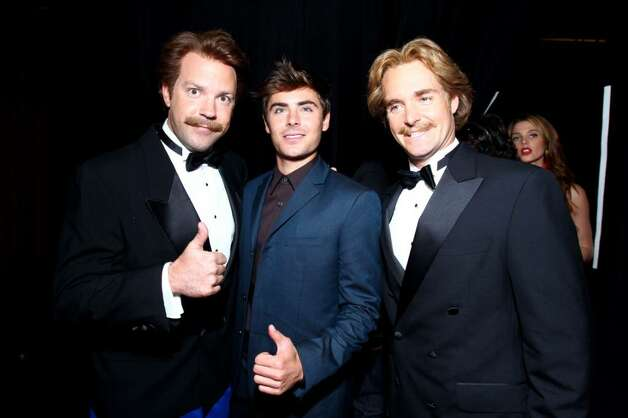 LOS ANGELES, CA - JULY 14:  (L-R) Actor Jason Sudeikis, Zac Efron and Will Forte backstage during the 2010 ESPY Awards at Nokia Theatre L.A. Live on July 14, 2010 in Los Angeles, California.  (Photo by Alexandra Wyman/Getty Images for ESPY) *** Local Caption *** Jason Sudeikis;Will Forte;Zac Efron Photo: Alexandra Wyman, Getty Images For ESPY / 2010 Getty Images