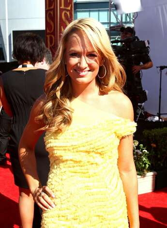 LOS ANGELES, CA - JULY 14:  ESPN talent Jenn Brown arrives at the 2010 ESPY Awards at Nokia Theatre L.A. Live on July 14, 2010 in Los Angeles, California.  (Photo by Alexandra Wyman/Getty Images for ESPY) *** Local Caption *** Jenn Brown Photo: Alexandra Wyman, Getty Images For ESPY / 2010 Getty Images