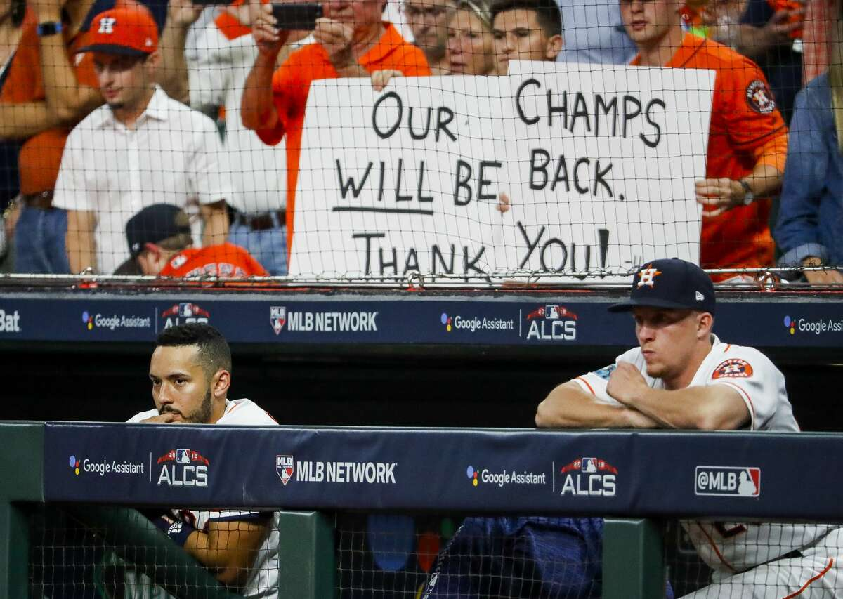 As the season ended, Astros fans showed their appreciation for a team that won 204 regular-season games and the franchise's first championship during the past two years.