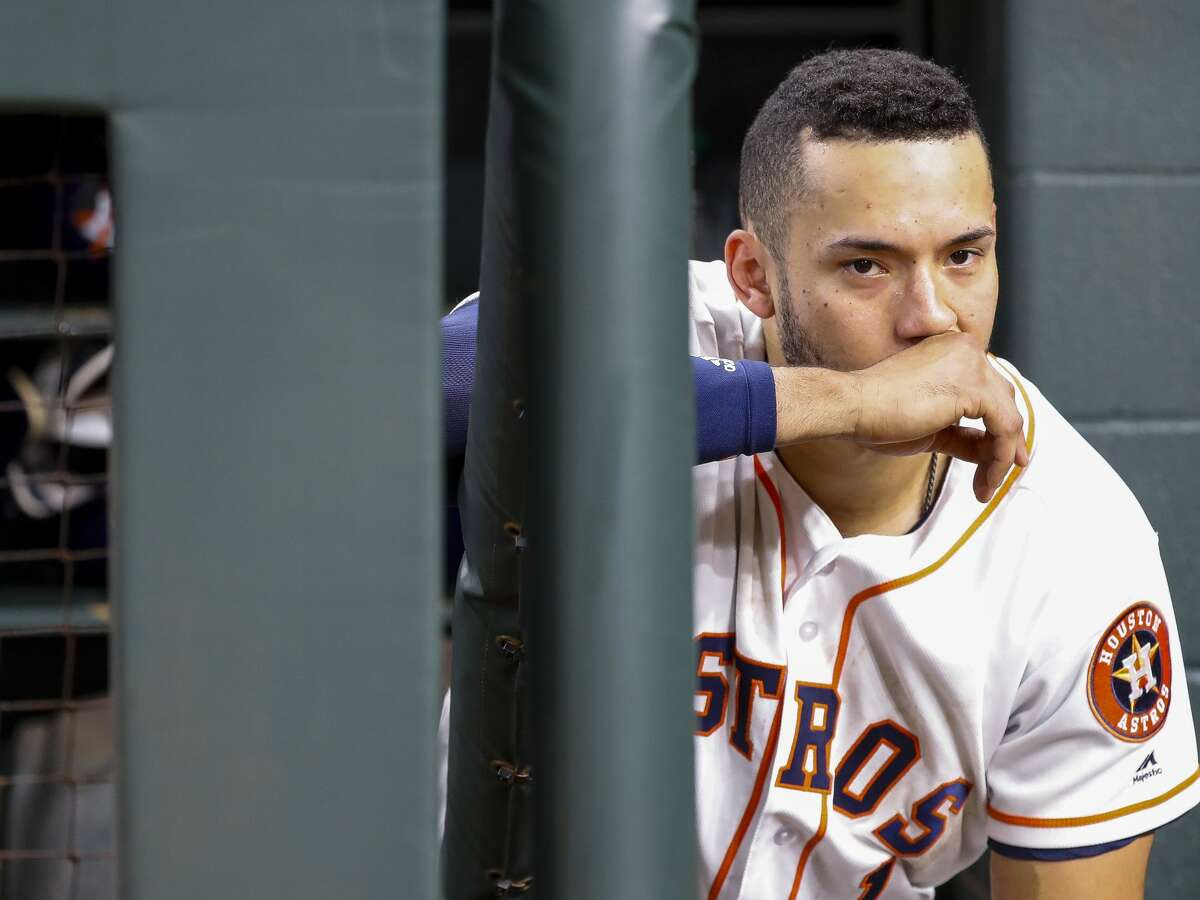 PHOTOS: Astros salaries for 2019  Houston Astros Carlos Correa (1) reacts from the dugout at the end of Game 5 of the American League Championship Series at Minute Maid Park on Thursday, Oct. 18, 2018, in Houston. >>>Browse through the gallery for a look at the contract for each Houston Astros player in the 2019 season ...