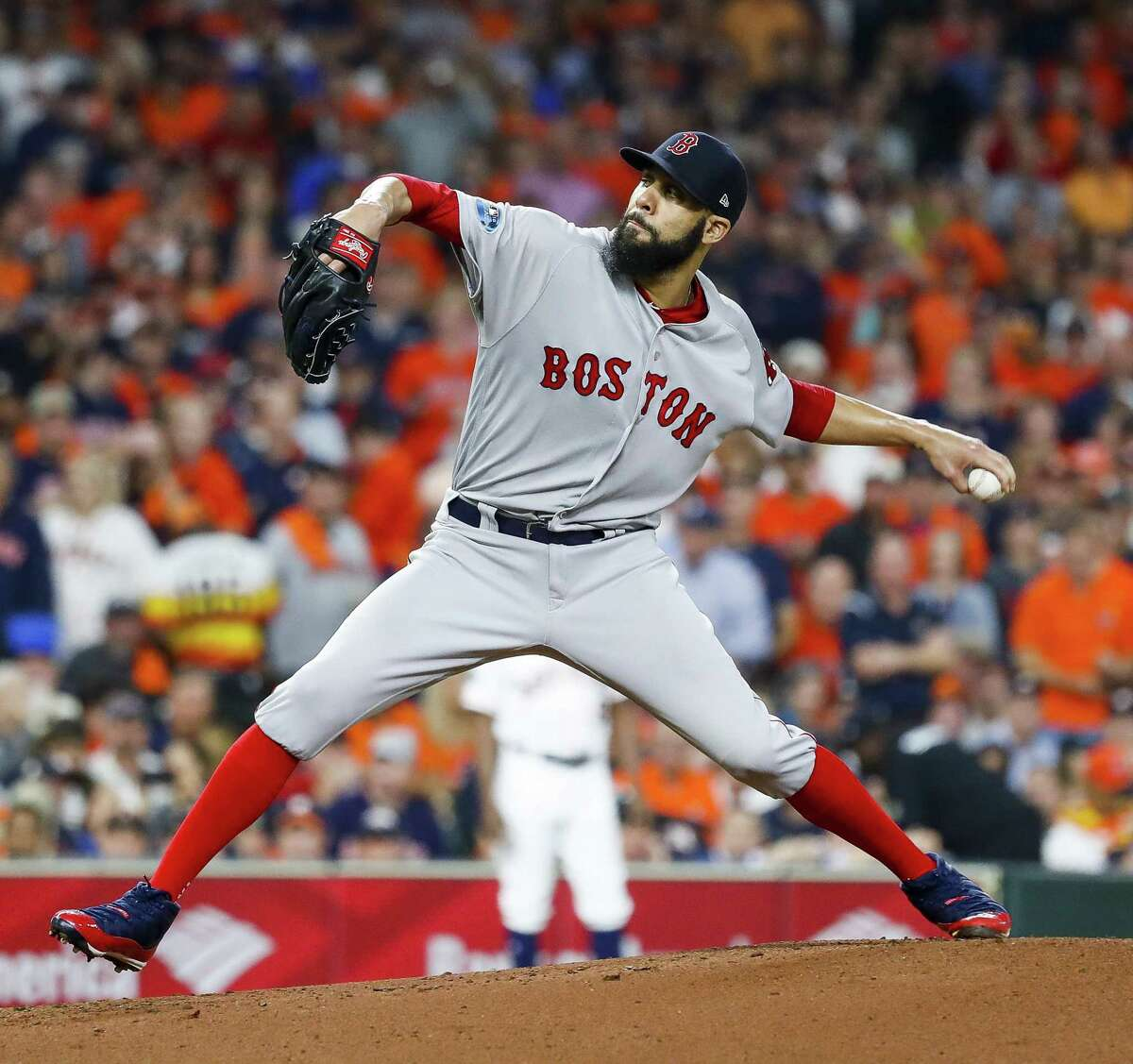 Red Sox starting pitcher David Price pitches during the first inning of Game 5 on Thursday.
