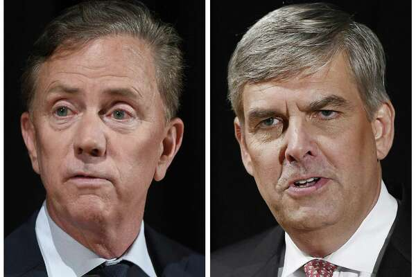 Democratic governor candidate Ned Lamont, left, and Republican Bob Stefanowski