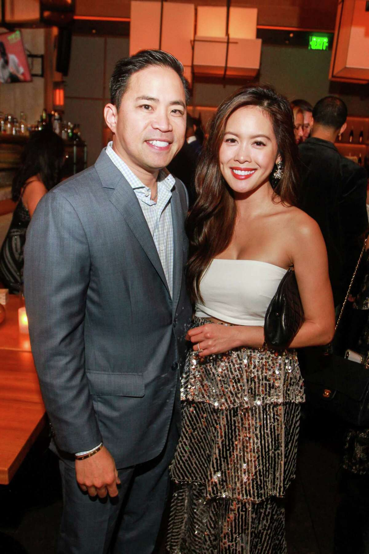 Richard Truong and Christine Nguyen at Nobu during the official grand opening.