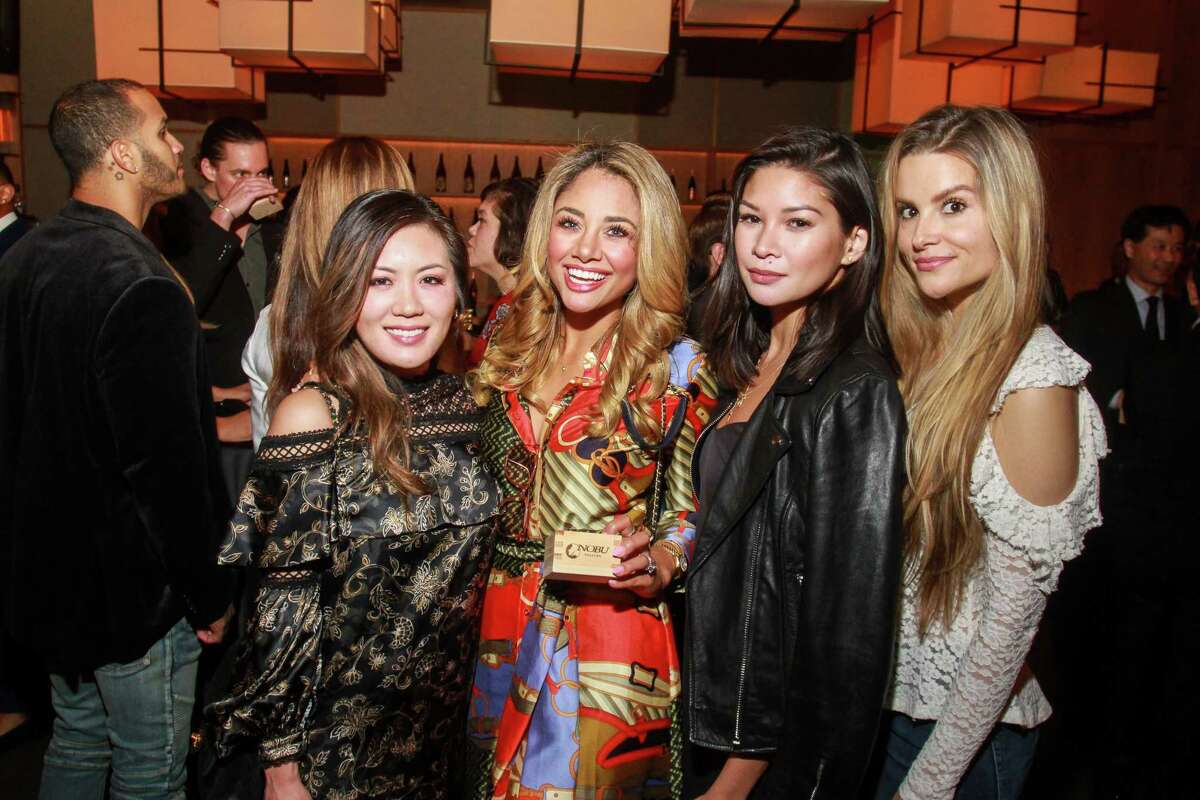 Katy To, from left, Crystal Robin, Kimberly Truong and Alison Coy at Nobu during the official grand opening.