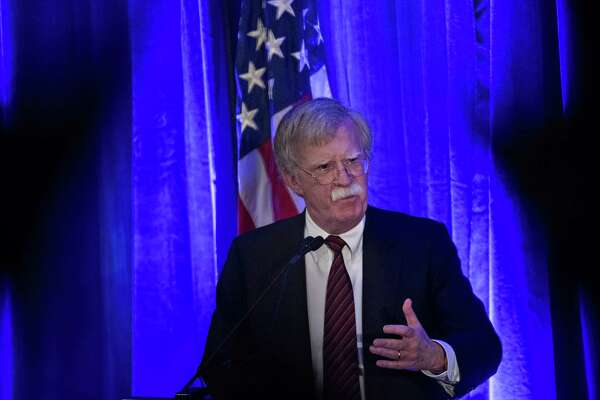 John Bolton, national security advisor, speaks at an event in Washington, D.C., on Sept. 10, 2018.