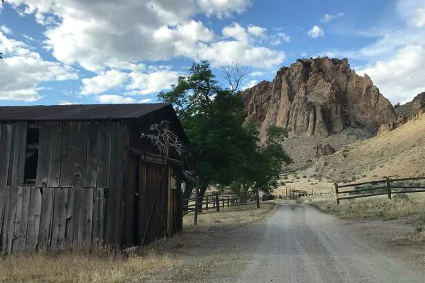 Remnants of Morrison Ranch, homesteaded around 1900, still stand near where the author started her journey at Birch Creek Historic Ranch on a bend of the Owyhee River.