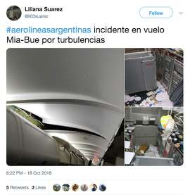 Images going viral on Twitter show damage and turmoil in the cabin of a an Aerolíneas Argentinas flight that encountered extreme turbulence.