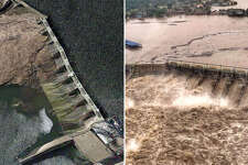 Before and after photos show flooding in Central Texas