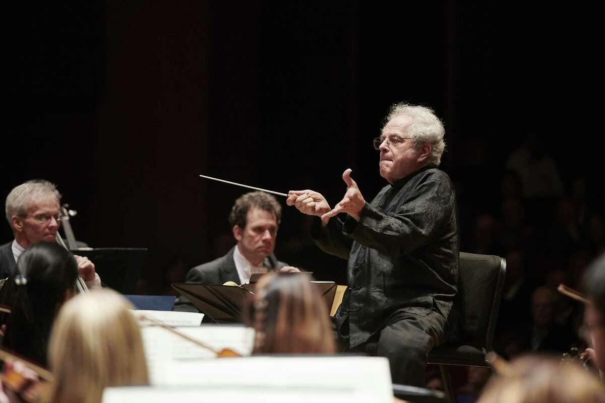 Itzhak Perlman conducting the Houston Symphony.