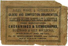 Label from Jones, Wooll and Sutherland