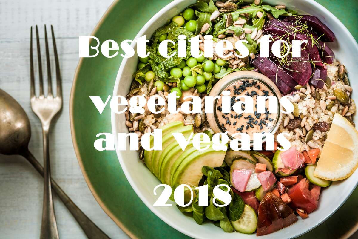 Click through the gallery to see the top 25 U.S. cities for vegetarians and vegans.