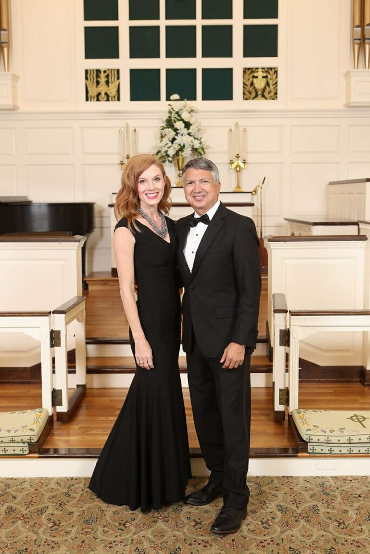 Best wishes are in order for KHOU anchor Ron Trevino and his new bride, Cheryl Martin.