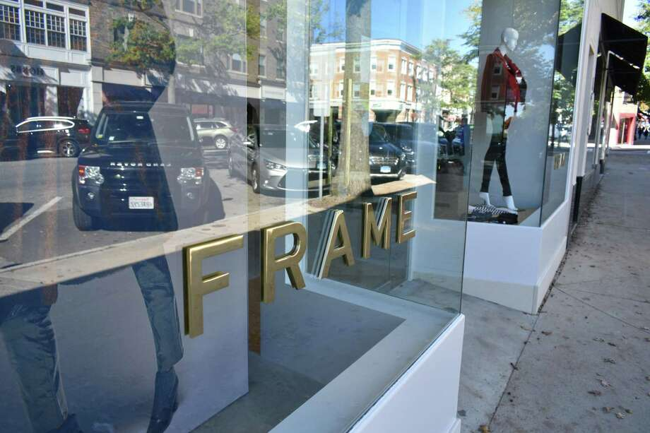 250 Greenwich Ave. -- The denim fashion retailer Frame opened its sixth store on Friday, Oct. 19, at 250 Greenwich Ave. in Greenwich, Connecticut. Created by Erik Torstensson and Jens Grede, Frame prices many of its jeans starting at $200, with tags ranging upward to $700 for some apparel. Frame is open 10 a.m.-6 p.m Monday-Saturday, and Sundays noon to 5 p.m. For information, visit www.frame-store.com or call 203-742 7719. Photo: Alexander Soule / Hearst Connecticut Media / Stamford Advocate