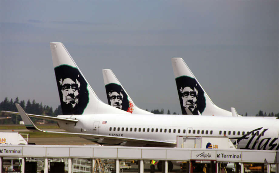 Alaska Airlines is increasing fees for checked bags. Photo: Jim Glab