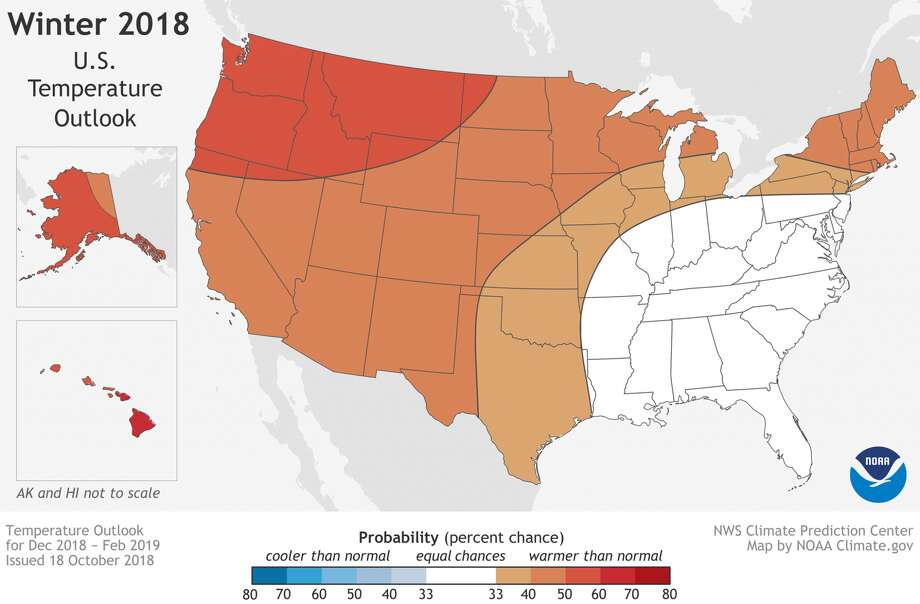 The NOAA is predicting warmer-than-normal temperatures for Texas this winter. Photo: Courtesy Of NOAA