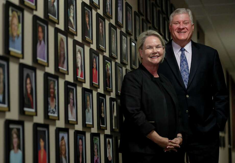 Judith Belanger, left, president and COO of Cornerstone Home Lending, Inc., and Marc Laird, chairman and CEO of the company, pose for a portrait at the company's offices, Thursday, Sept. 6, 2018, in Houston. Photo: Jon Shapley, Staff Photographer / Staff Photographer / © 2018 Houston Chronicle