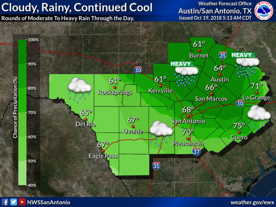 Rain chances will persist through the weekend and into next week. Photo: National Weather Service